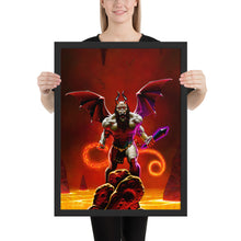 "Load image into Gallery viewer, ""Demon Lord"" by Denis Loubet - Framed Poster"