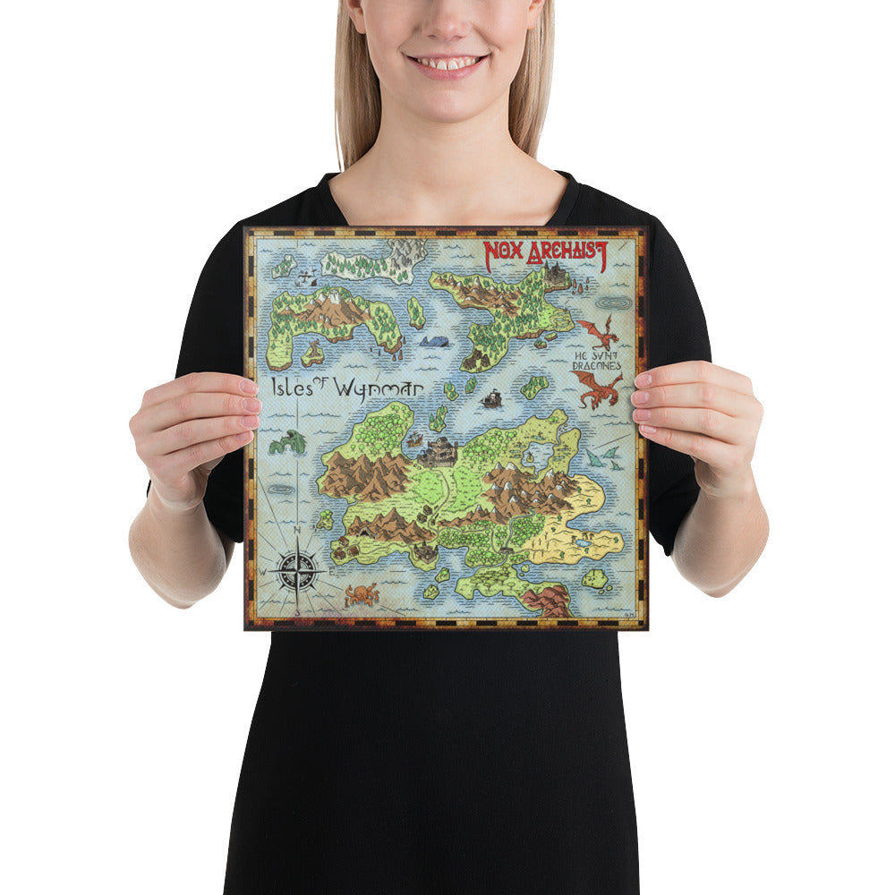 Isles of Wynmar Map on Canvas