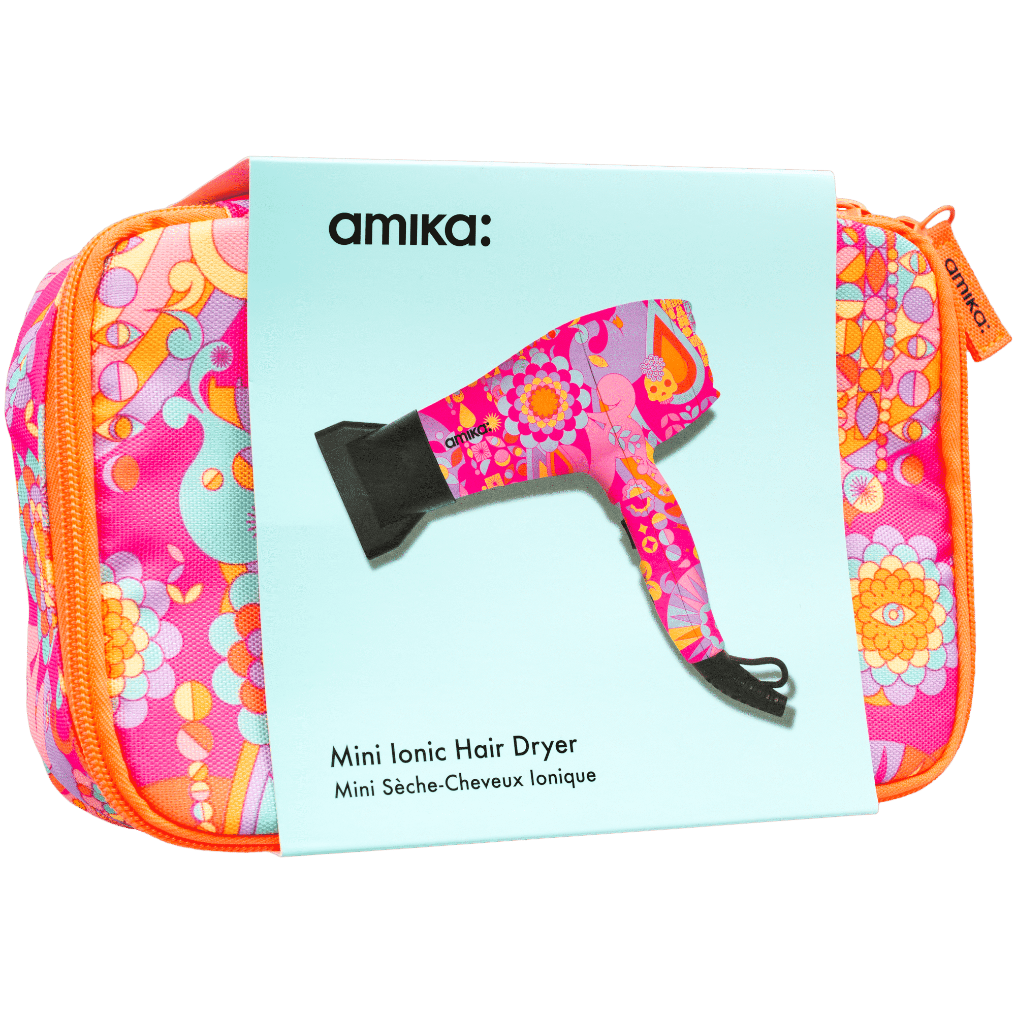 Amika Pink Mini-Ionic Hair Dryer