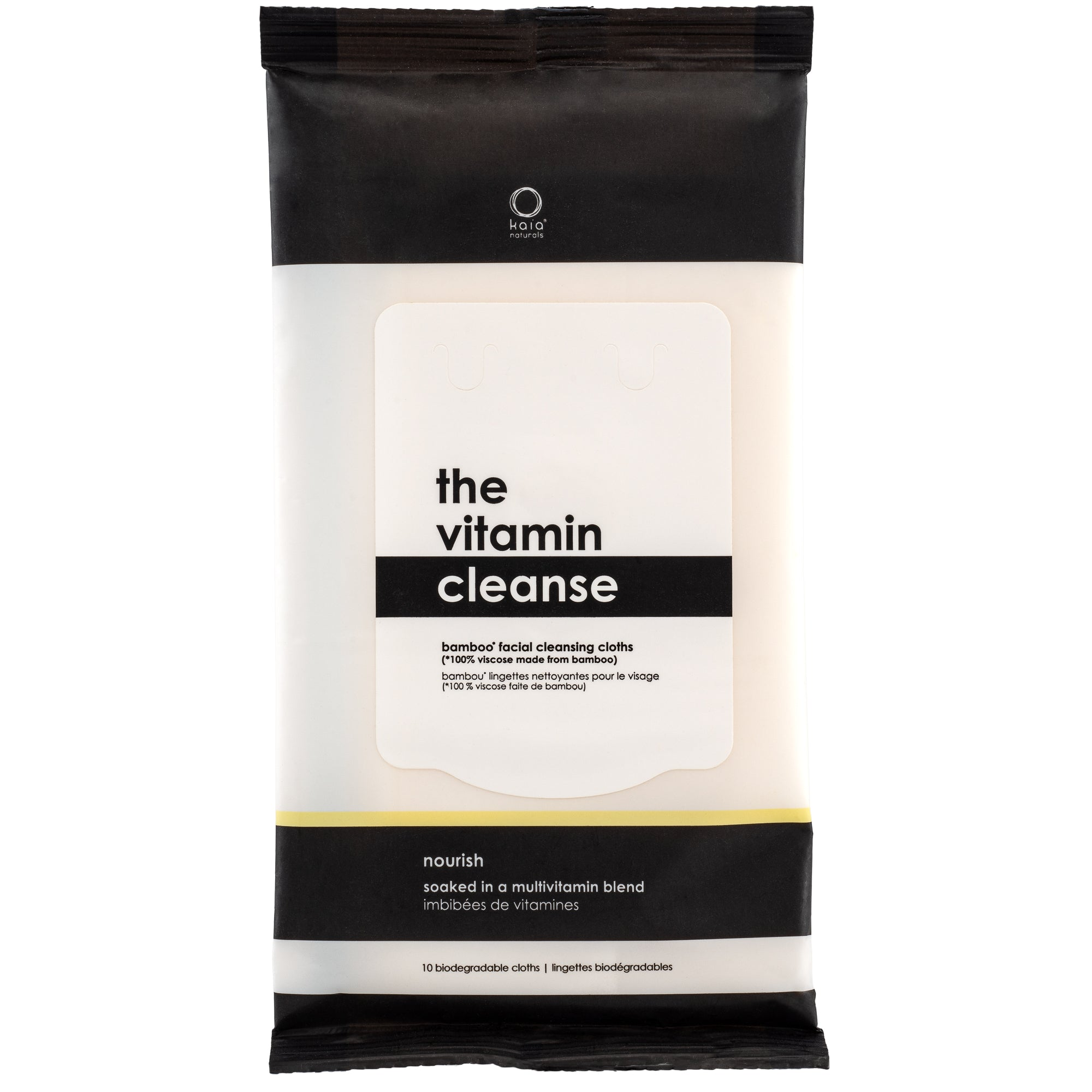 Kaia Naturals The Vitamin Cleanse Bamboo Cleansing Cloths