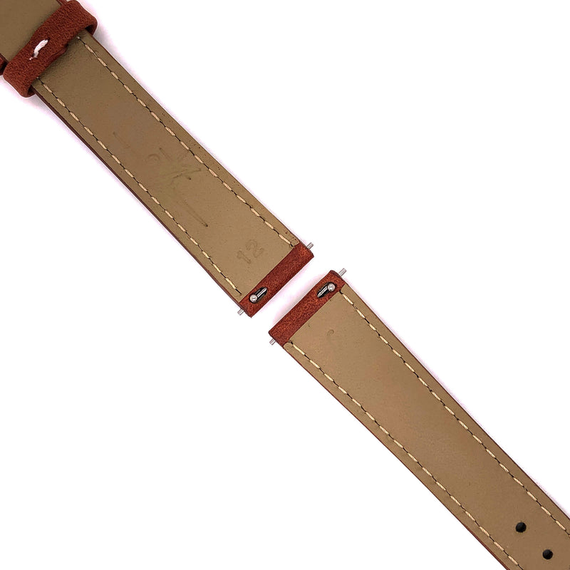 BAND - 16mm Oil Tan Leather Contrast Stitch - The Abingdon Co., aviation, dive, tactical watches for women