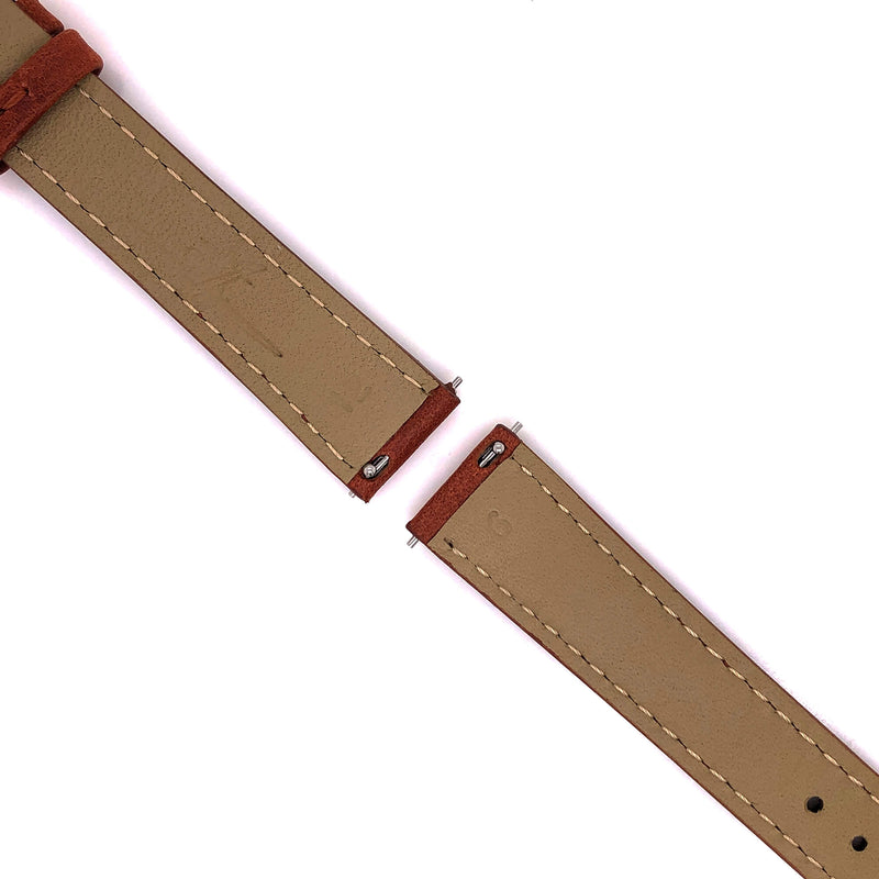 BAND - 16mm Oil Tan Leather Matching Stitch - The Abingdon Co., aviation, dive, tactical watches for women