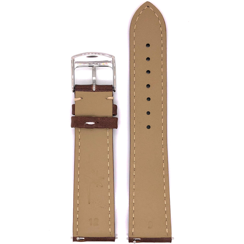 BAND – 20mm Oil Tan Leather Contrast Stitch - The Abingdon Co., aviation, dive, tactical watches for women