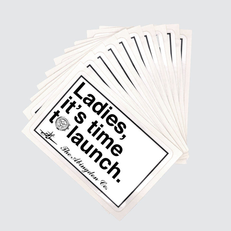 """Ladies, it's time to..."" Stickers (10 Pack) - The Abingdon Co., aviation, dive, tactical watches for women"