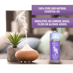 RVEDIC 100% Pure Lavender Essential Oil - 4oz (120mL)