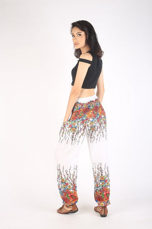 Harem pants- White Printed - elephant pantz