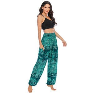 harems pants for women - Balarama Teal - elephant pantz