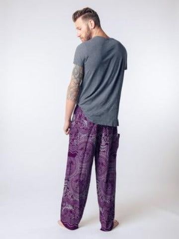 Elephant pants loungers- purple - elephant pantz