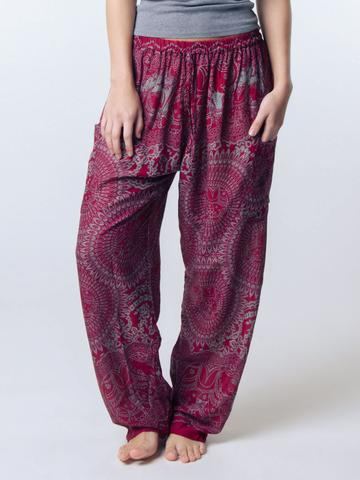 elephant pants loungers- women maroon - elephant pantz