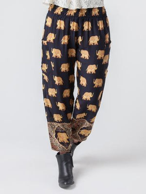 elephant pants- Black and gold - elephant pantz