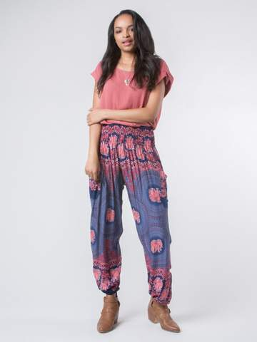 Elephant pants Nellie Dark Blue - elephant pantz