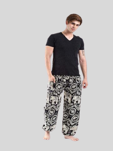 Elephant pants men - Black diamond - elephant pantz