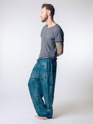 elephant pants loungers-Blue - elephant pantz