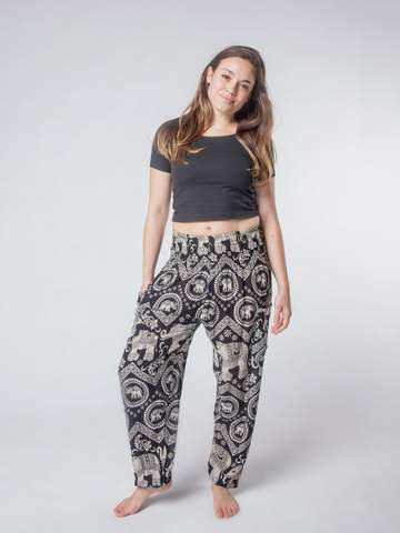 Elephant pants Harem Pants - Black Diamond - elephant pantz