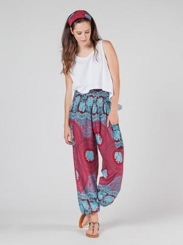 Elephant pants -Nellie Burgendy - elephant pantz