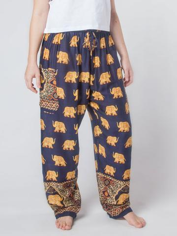 Elephant pants - black and gold - elephant pantz