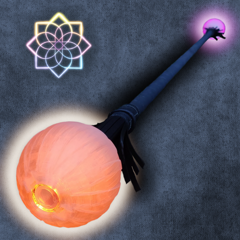 PRACTICE + LED Double Staff Ends