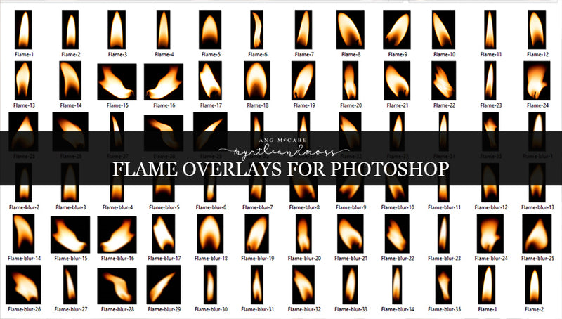 Flame Overlays for Photoshop