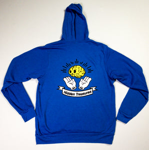 blue hoodie back, yellow brain
