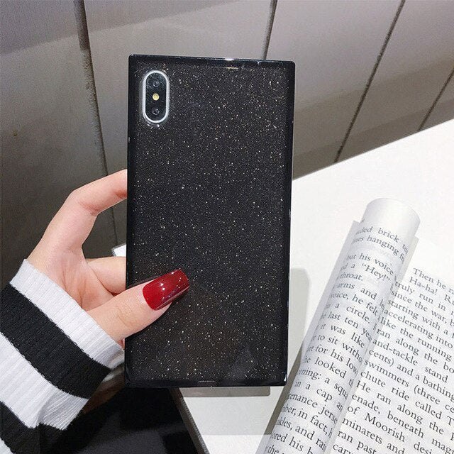 Square Glitter Shockproof Cases