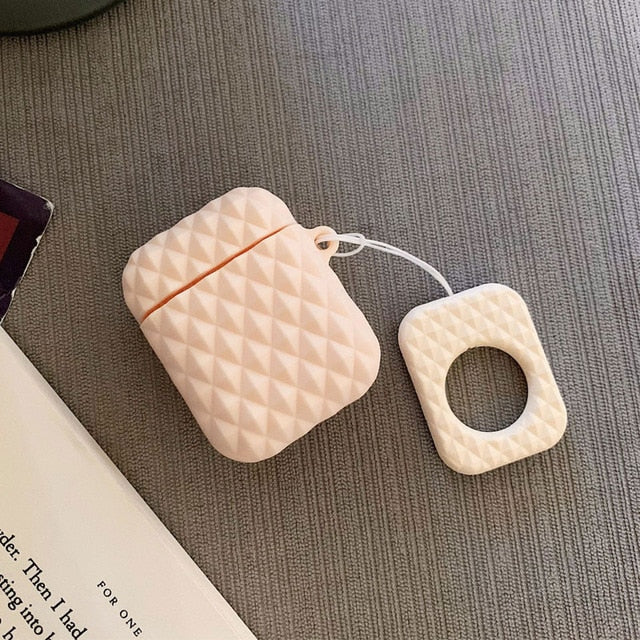 Diamond Studded Airpod Cases W/Ring Strap