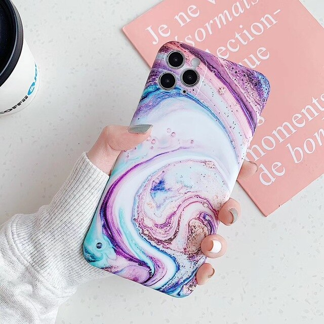 Matte Marble Gradient Candy Cases