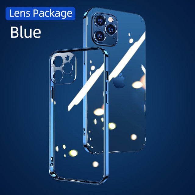 Clear/Blue Edge Full Lens Protection Cases