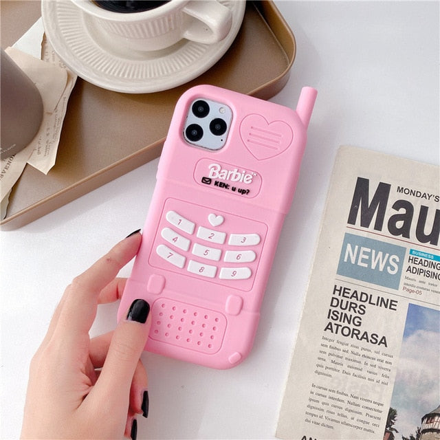 Cute Barbie Shockproof Soft Case