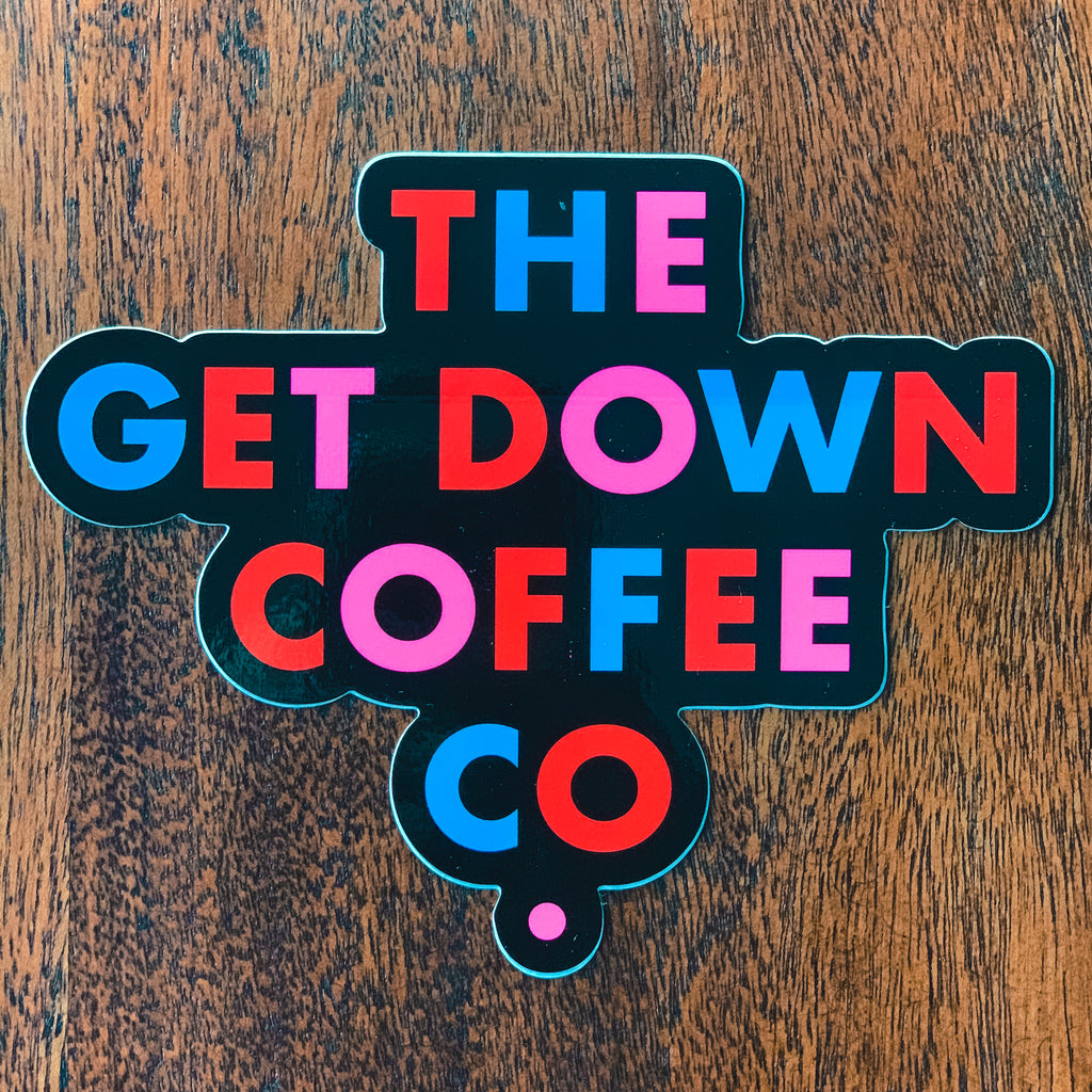 The Get Down Coffee Company Sticker