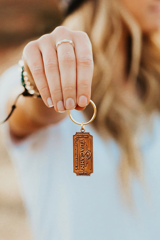 Ticket Tuacahn Key Chain