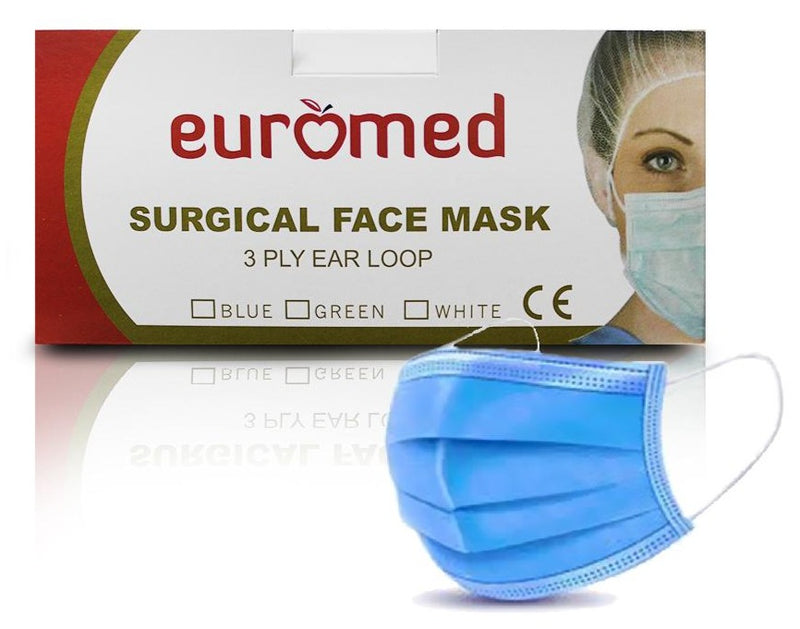 Face Mask Surgical 3ply with ear loop - Applemed Trading L.L.C