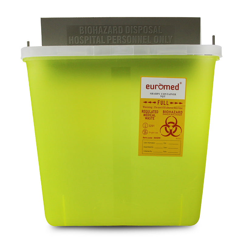 Sharp Container 5-Quard with Transparent Cap - Applemed Trading L.L.C
