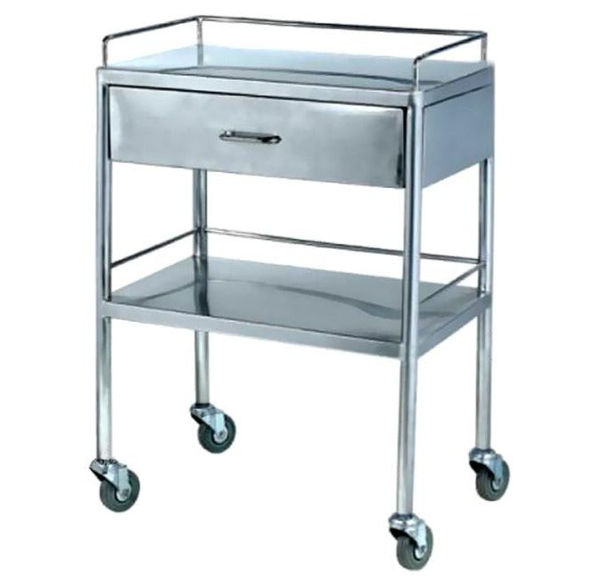 S.S.Trolley with Drawer Two Shelf AM 6148D