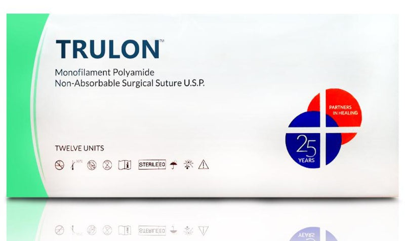 Suture - Trulon Monofilament Polyamide Nylon