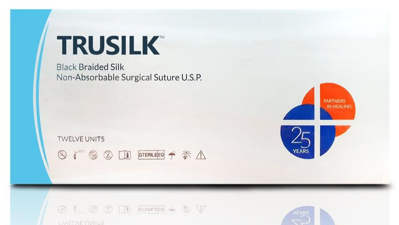 Black braided, non-absorbable silk suture for optimum knot security