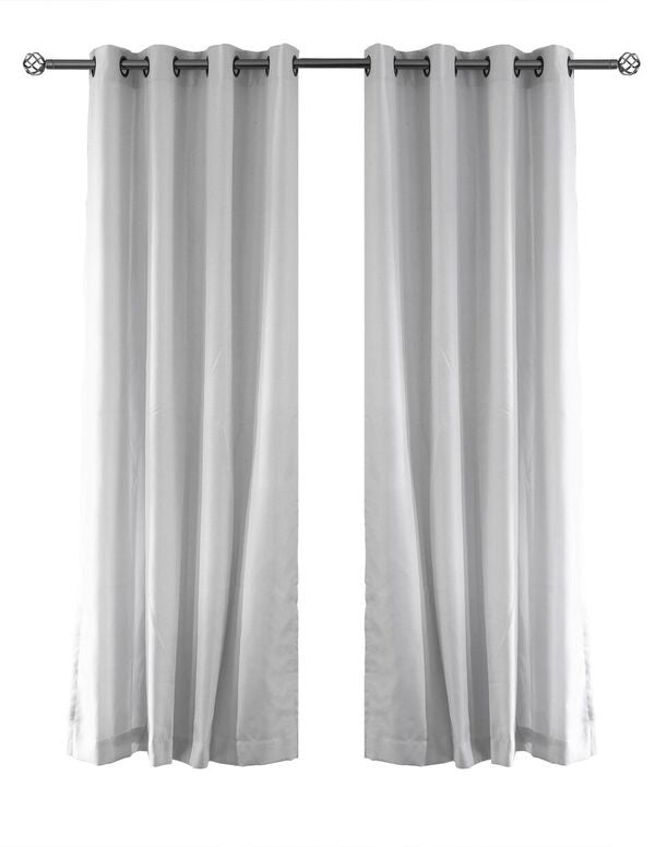LITEOUT - AURA LINEN LOOK LINED CURTAIN PANEL (PAIR)
