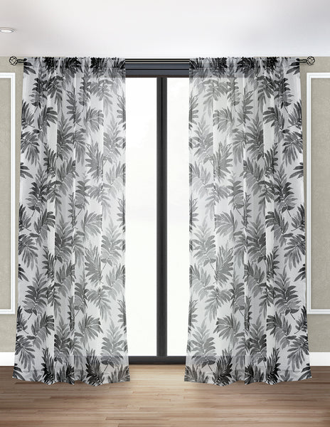 LITEOUT - BERMUDA SHEER CURTAIN PANEL (PAIR)