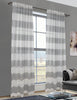 LITEOUT - CABANA LINEN STRIPE SHEER CURTAIN PANEL (PAIR)