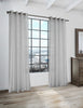 LITEOUT - EOS SOLID BATISTE DESIGNER SHEER CURTAIN PANEL (PAIR)