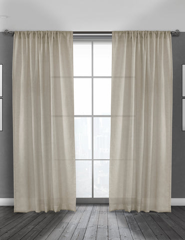 LITEOUT - ESSENCE LINEN UNLINED CURTAIN PANEL (PAIR)