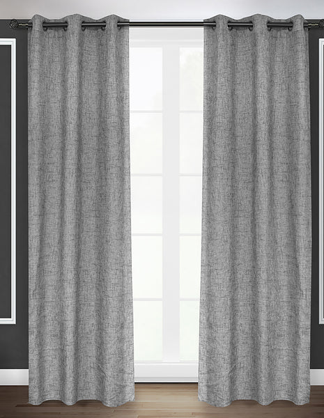 LITEOUT - OSLO BASKET WEAVE UNLINED CURTAIN PANEL (PAIR)