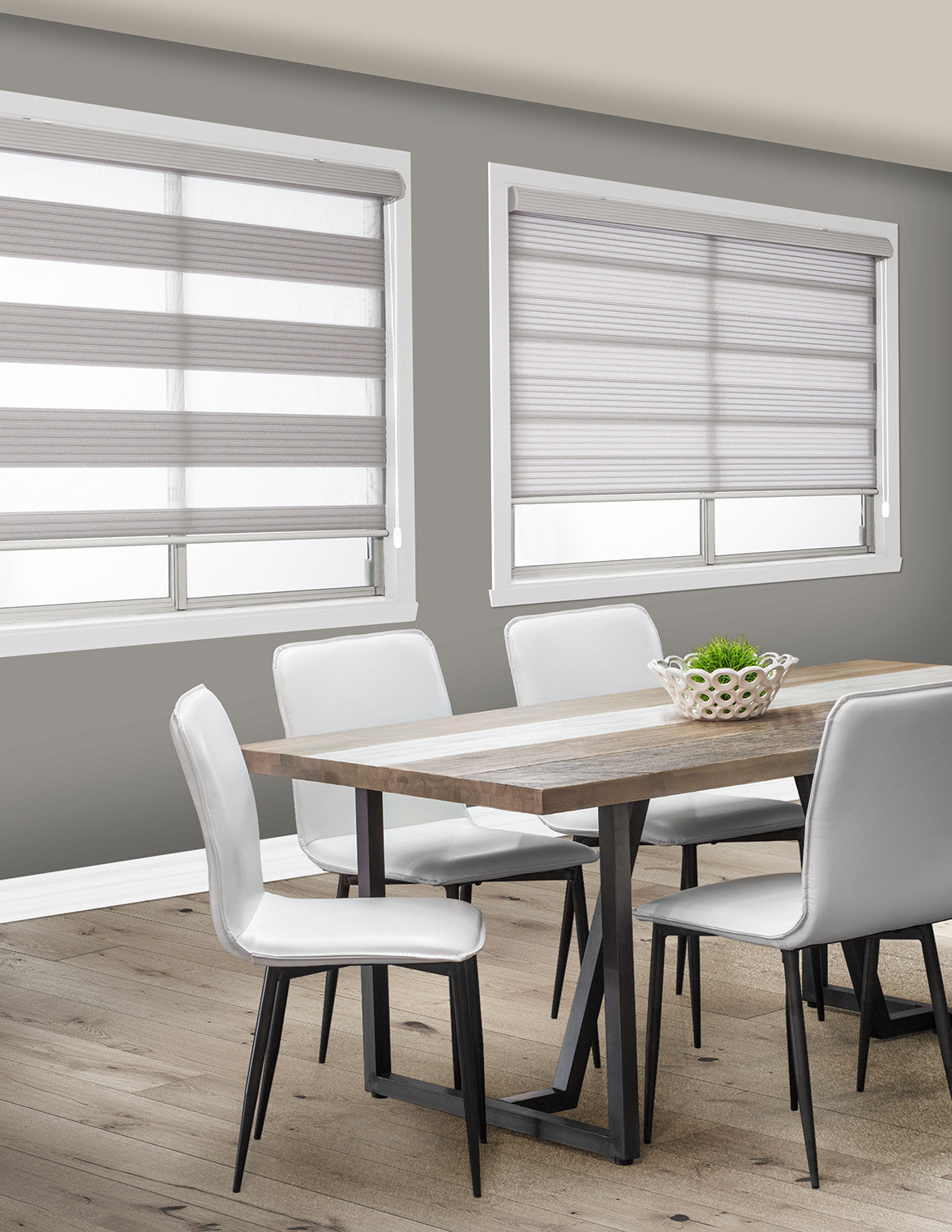 LITEOUT - CUSTOM MADE SHADES - Series 6000 MAGIC LITE BLACKOUT AND PLEATED