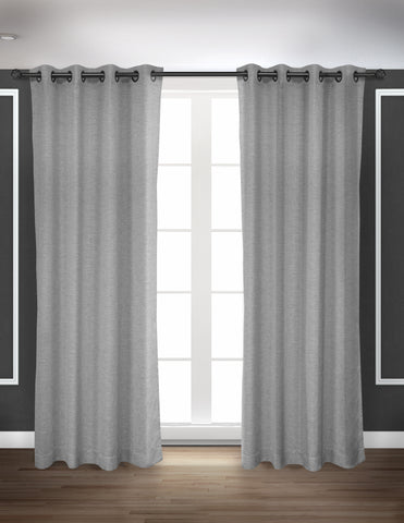 LITEOUT - DEXTER WOVEN TEXTURE UNLINED CURTAIN PANEL (PAIR)