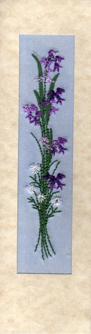 Bluebells bookmark card