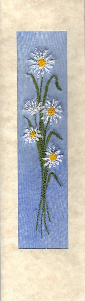 Daisy bookmark card