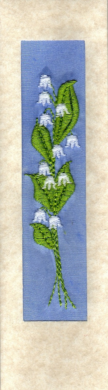 Lily of the valley bookmark card