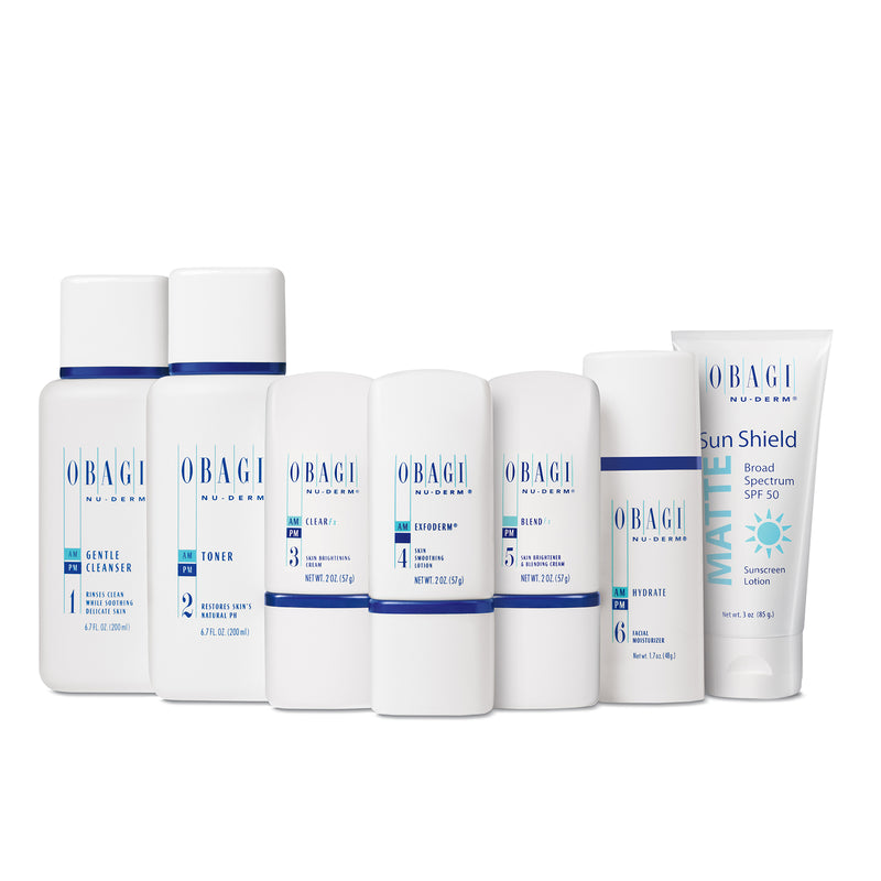 Obagi Nu-Derm Fx Starter System Normal to Dry (7-piece set) - SkincareEssentials