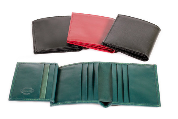 Tri-fold Leather Credit Card Holder