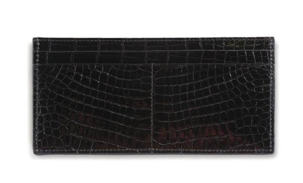 Large Horizontal Crocodile Wallet