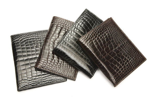 Vertical Crocodile Wallet